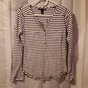 Lucky Brand striped long sleeve tshirt small